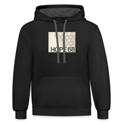 Vintage Focus: HOPE Logo - Unisex Contrast Hoodie