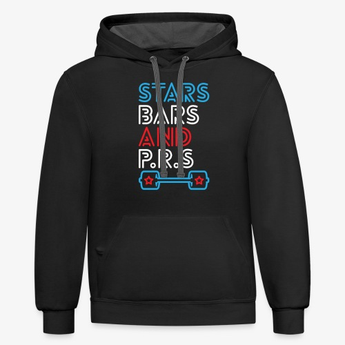 Stars, Bars And PRs - Contrast Hoodie