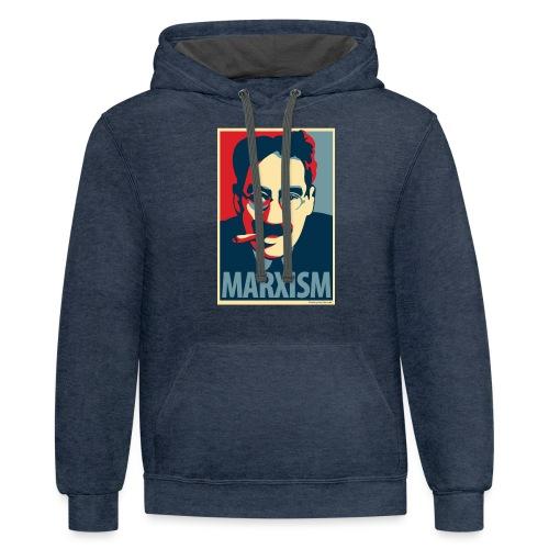 Marxism: Obama Poster Parody - Contrast Hoodie