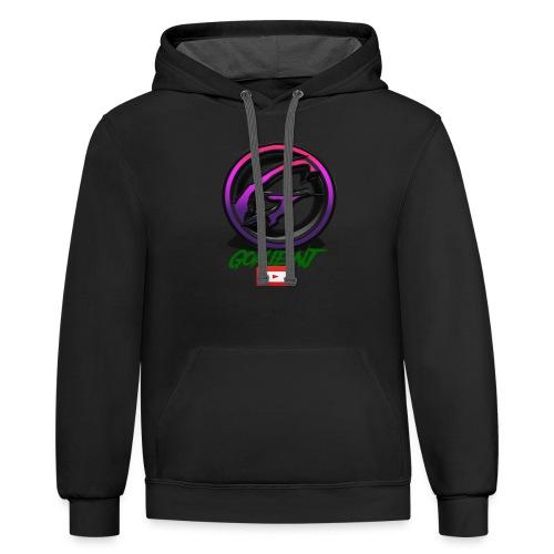 goalie nj logo - Contrast Hoodie