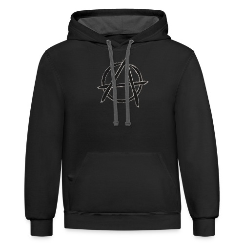 Anarchy in black silver - Contrast Hoodie