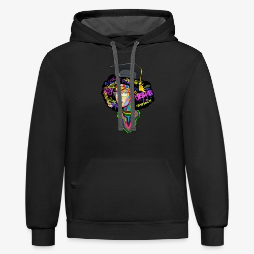 Melanin Women Afro Education - Contrast Hoodie