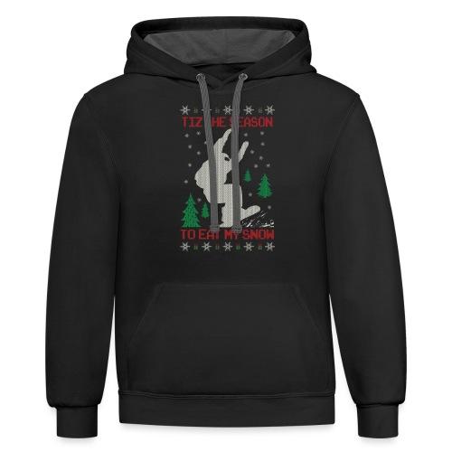 Snowboarder Christmas - Contrast Hoodie