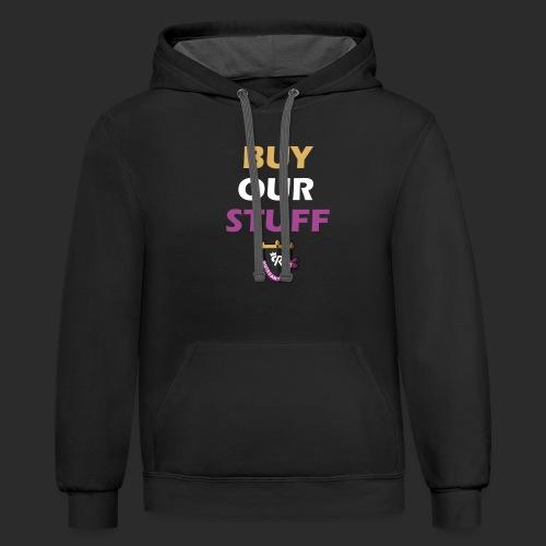 Buy Our Stuff Puissant Royale Logo - Unisex Contrast Hoodie