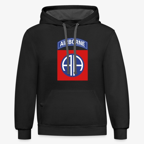 82nd Airborne Division - Contrast Hoodie