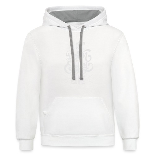 Slow down and enjoy life - Unisex Contrast Hoodie