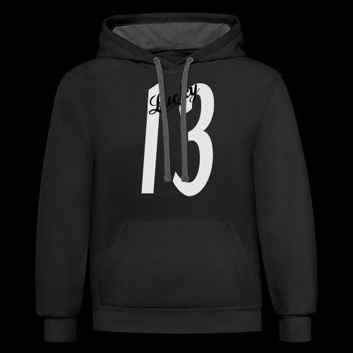 Lucky Thirteen - Contrast Hoodie