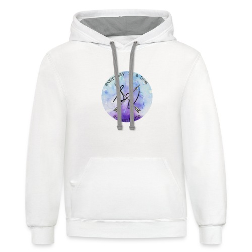 everyday is a new adventure logo - Contrast Hoodie