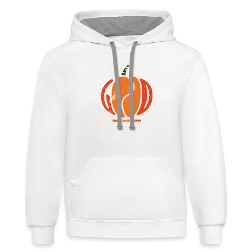Life Is Really Good Pumpkin - Contrast Hoodie
