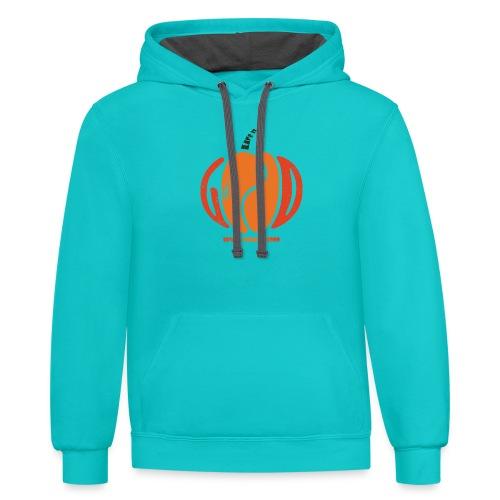 Life Is Really Good Pumpkin - Contrast Hoodie