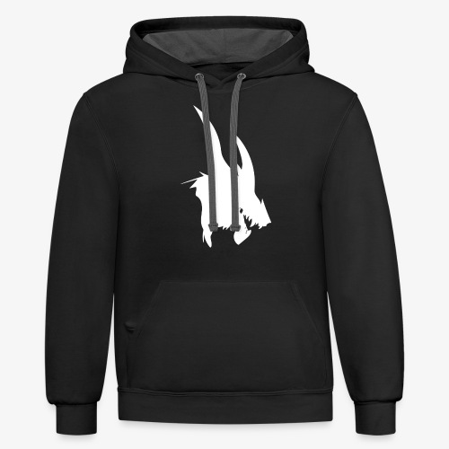 dragon sil - Unisex Contrast Hoodie