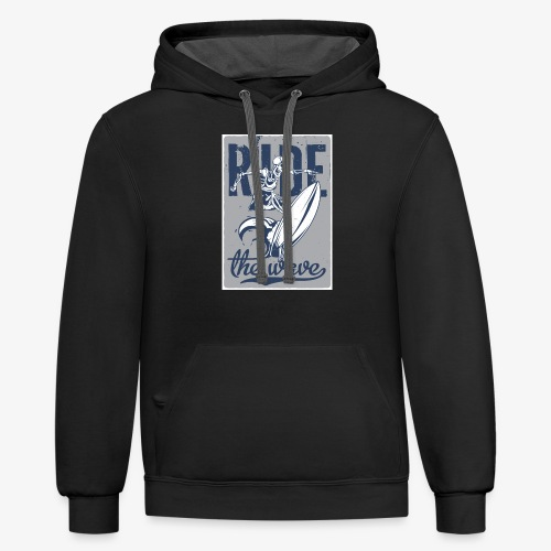 Ride the wave - Unisex Contrast Hoodie