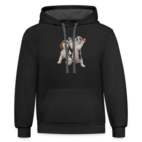 puppy - Unisex Contrast Hoodie
