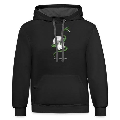 Origami Snake and skull - Contrast Hoodie