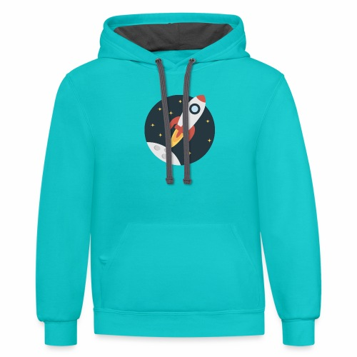 instant delivery icon - Contrast Hoodie