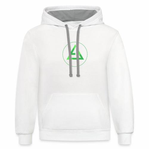 crypto logo branding - Contrast Hoodie