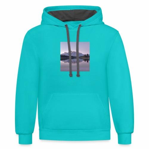 Rockies with sleeves - Unisex Contrast Hoodie
