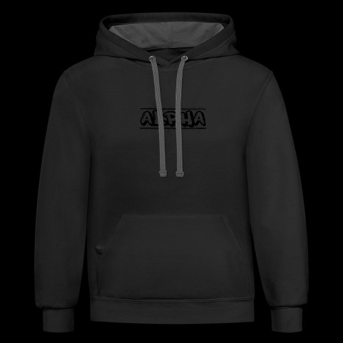 Alpha Design - Unisex Contrast Hoodie