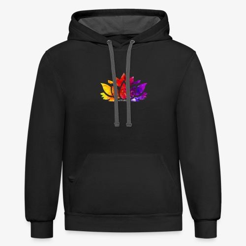 Multicolor Lotus - Unisex Contrast Hoodie