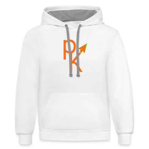 Plusklix Logo - Contrast Hoodie