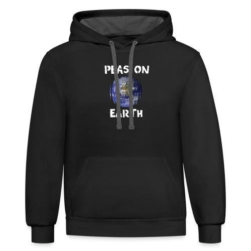 Peas on Earth! - Unisex Contrast Hoodie