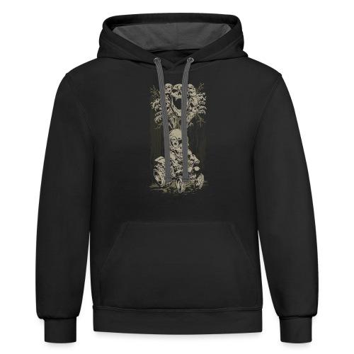 ATV Skully Skull Tree - Contrast Hoodie