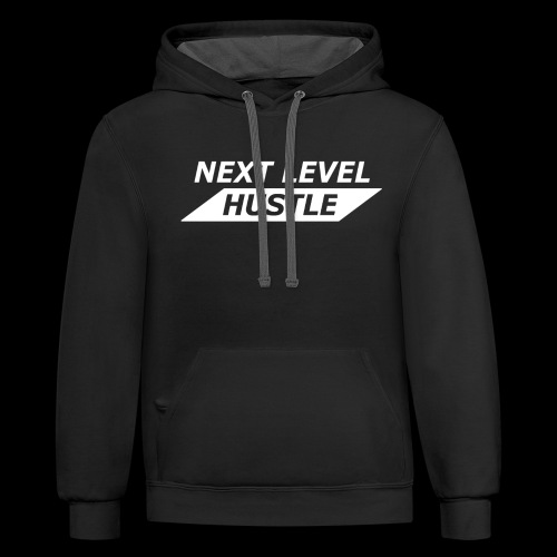 NEXT LEVEL HUSTLE - Contrast Hoodie