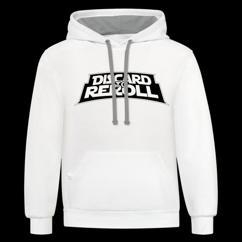 Discard to Reroll: Logo Only - Unisex Contrast Hoodie