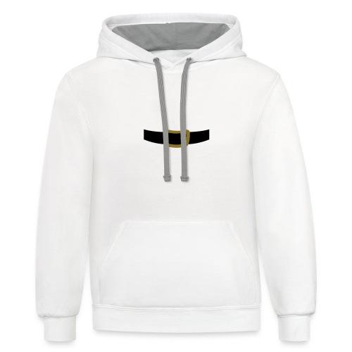 SANTA CLAUS SUIT - Men's Polo Shirt - Contrast Hoodie