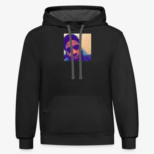face picture - Contrast Hoodie