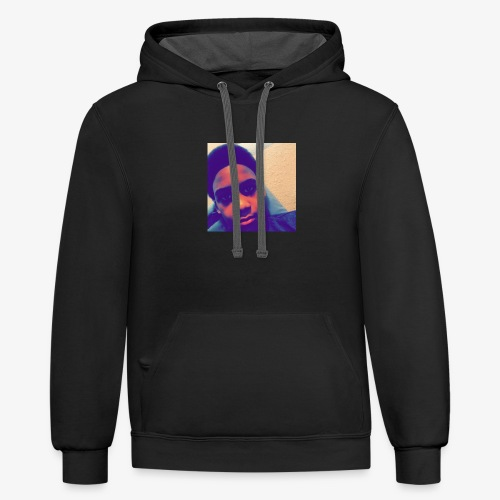 face picture - Unisex Contrast Hoodie