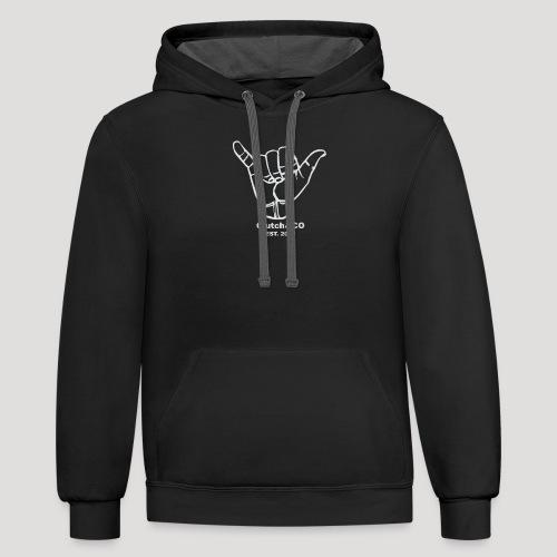 Grey Shaka for Black Clothing - Unisex Contrast Hoodie