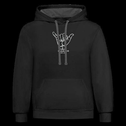 Grey Shaka for Black Clothing - Contrast Hoodie