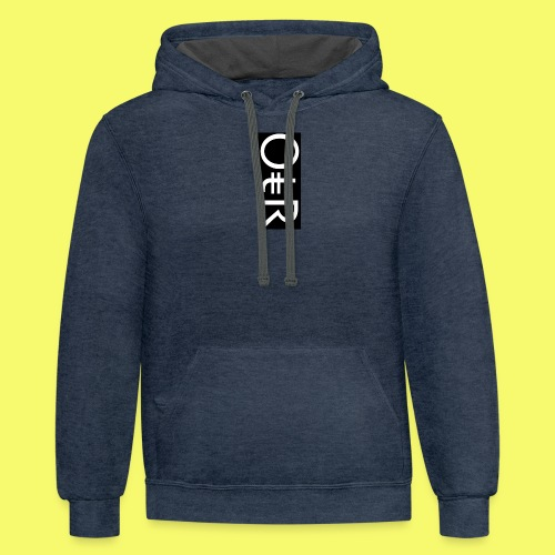 OntheReal coal - Contrast Hoodie