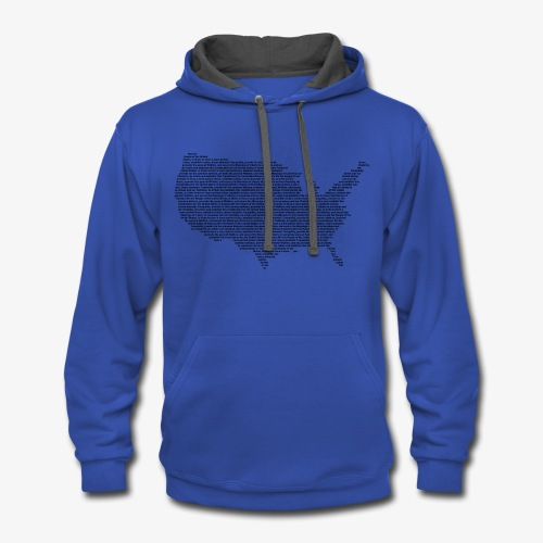 United States Constitution - Contrast Hoodie