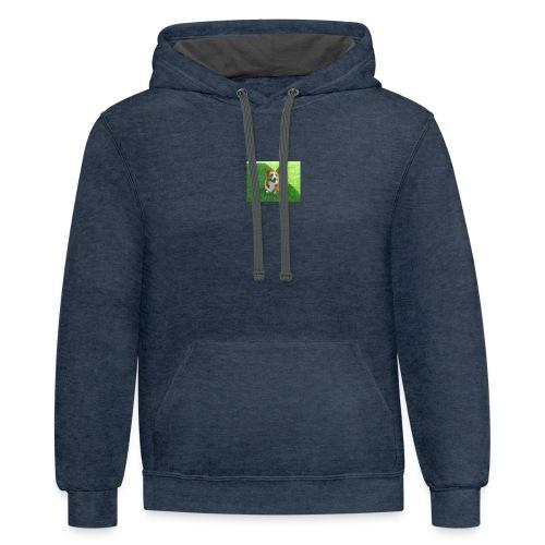BuddyTheDoggo Official Logo #2 - Contrast Hoodie
