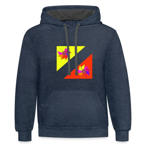 spiral in triangle - Contrast Hoodie