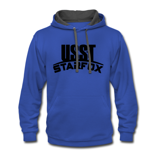 USST STARFOX Text - Contrast Hoodie