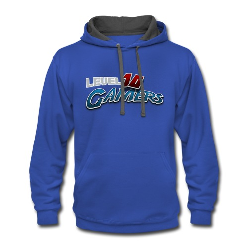 Level10Gamers Logo - Contrast Hoodie
