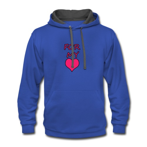 FOR LOVE - Contrast Hoodie