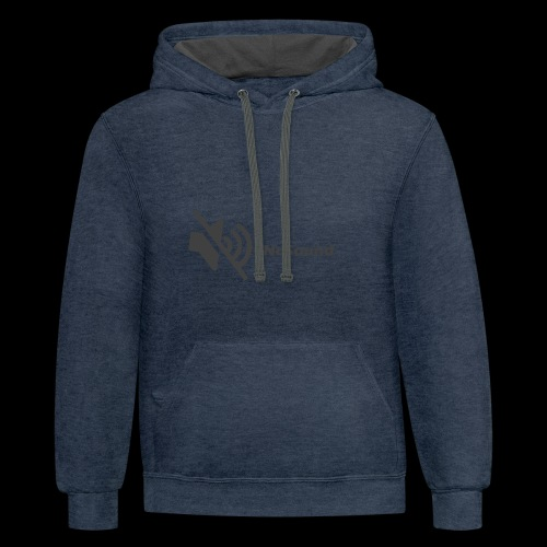 #NoSound by mm552 - Contrast Hoodie