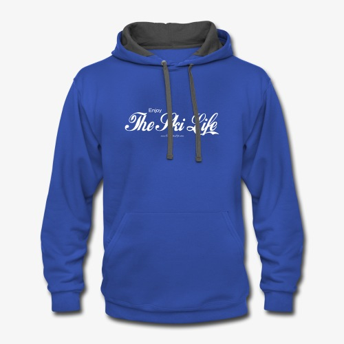 THE SKI LIFE - SHARE A GIFT OF SKIING! - Contrast Hoodie