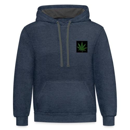 marihuana - Contrast Hoodie