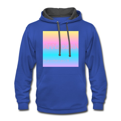 Colorful applicorn shirts - Contrast Hoodie