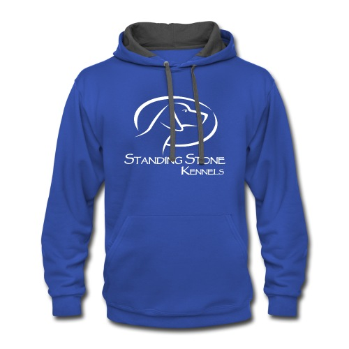 Standing Stone Kennels White Logo - Contrast Hoodie