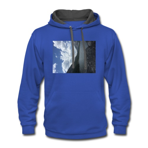 road to one thousand - Contrast Hoodie