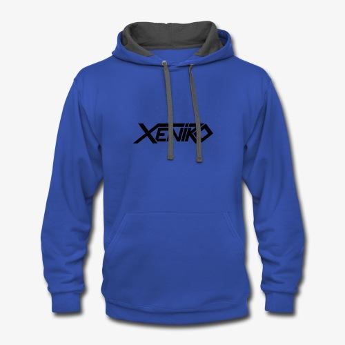 Xeniro logo - Contrast Hoodie
