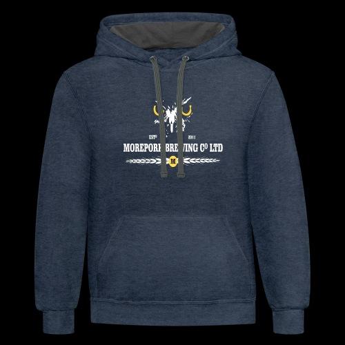Morepork Brewing logo - Contrast Hoodie