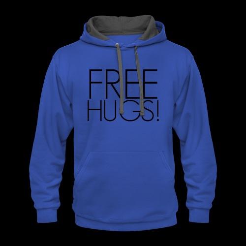FREE HUGS - Contrast Hoodie