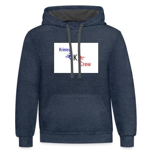 krimsy crew shirt - Contrast Hoodie